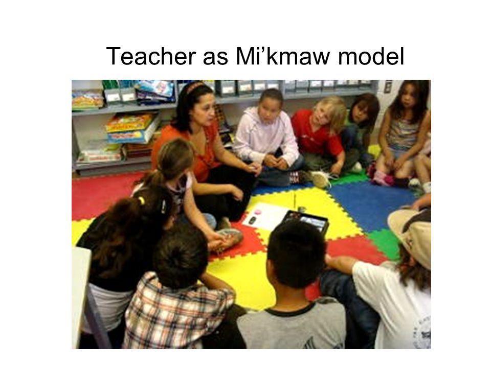 Teacher as Mi'kmaw model