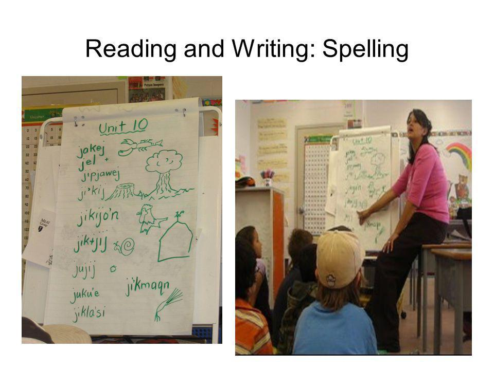 Reading and Writing: Spelling