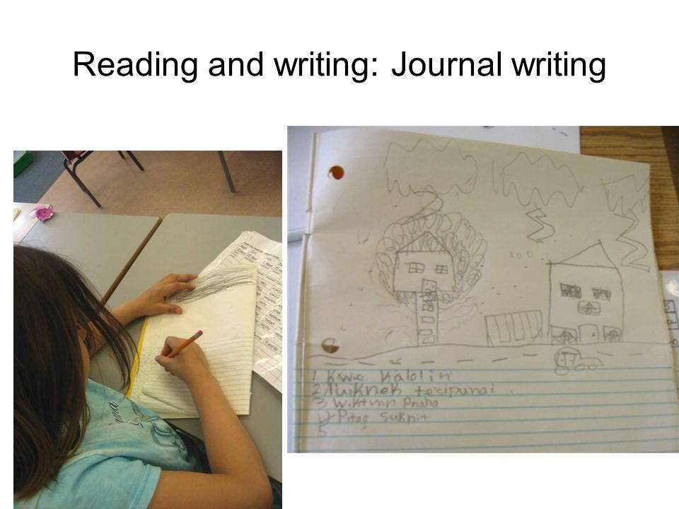 Reading and writing: Journal writing