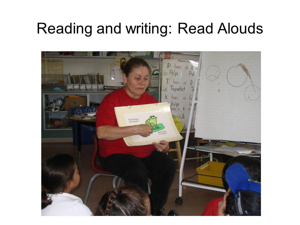 Reading and writing: Read Alouds