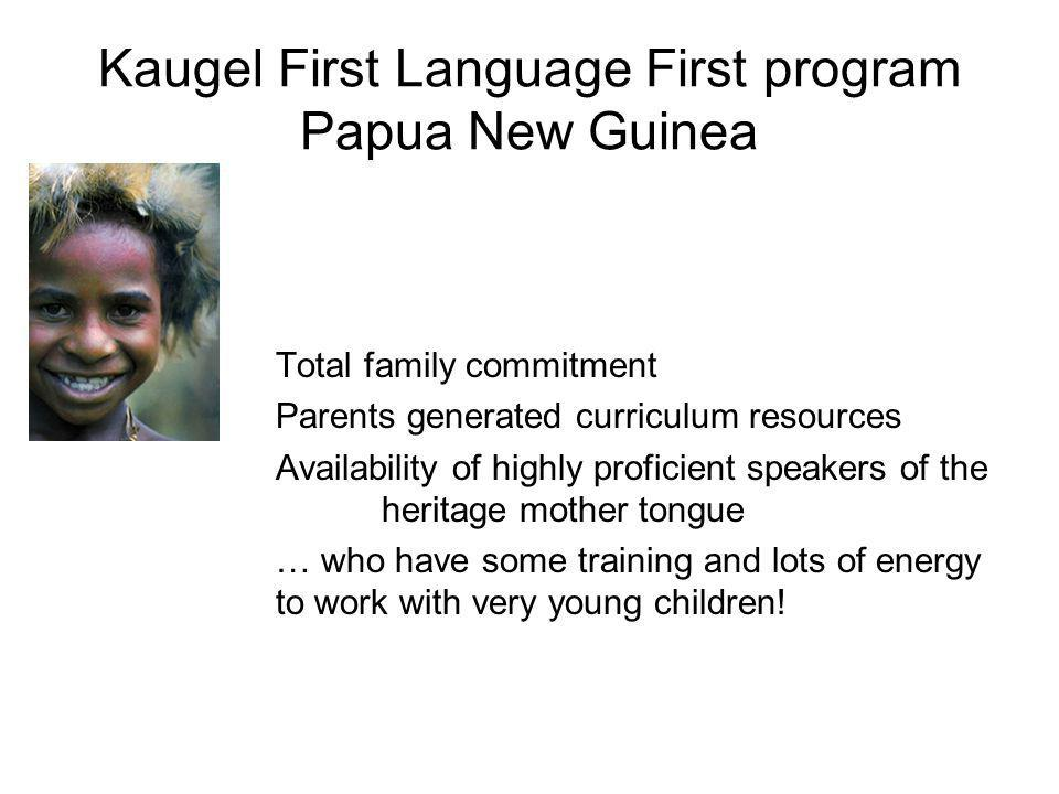 Kaugel First Language First program Papua New Guinea