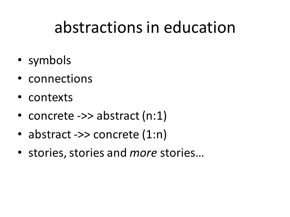 abstractions in education