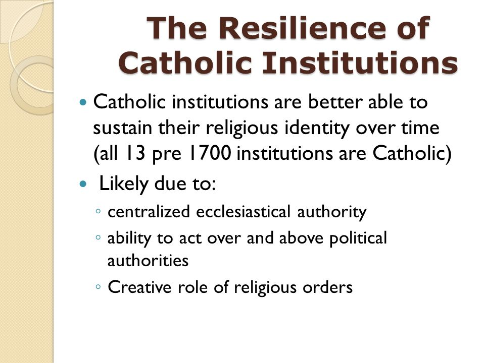 The Resilience of Catholic Institutions