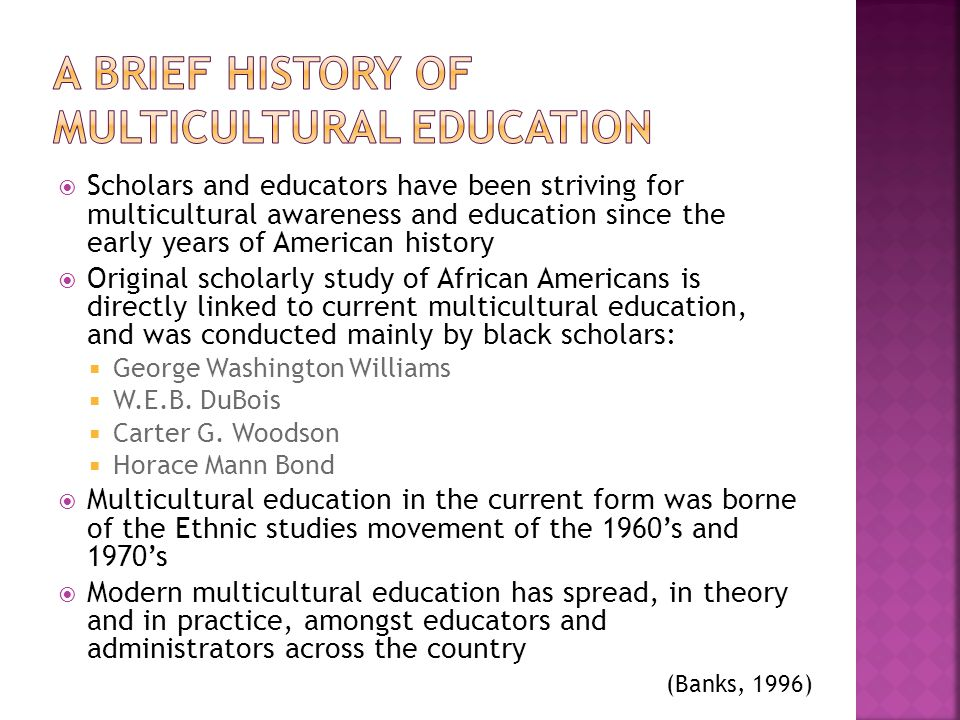 A Brief History of Multicultural education