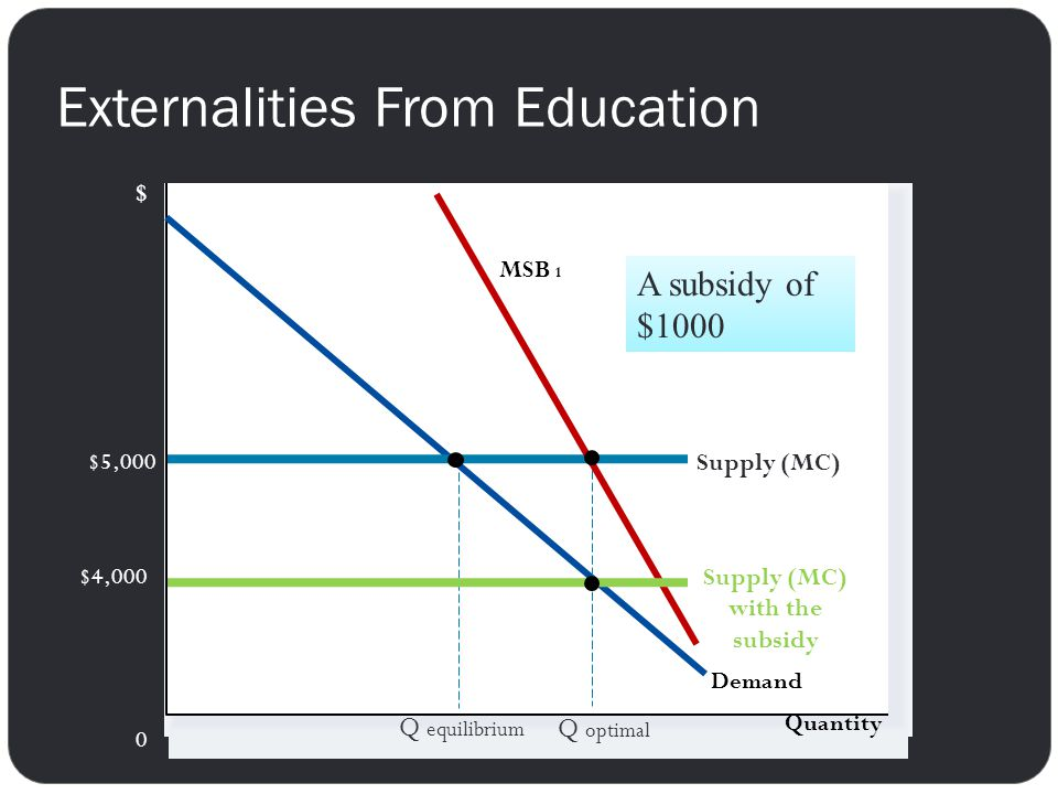 Externalities From Education
