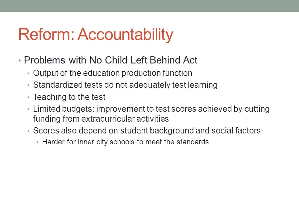 Reform: Accountability