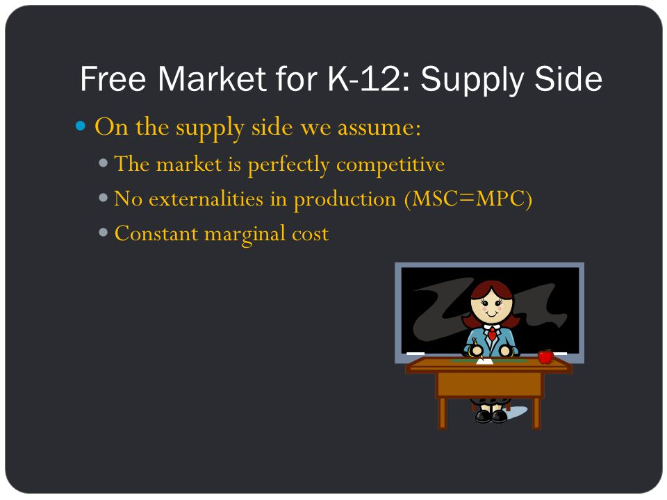 Free Market for K-12: Supply Side
