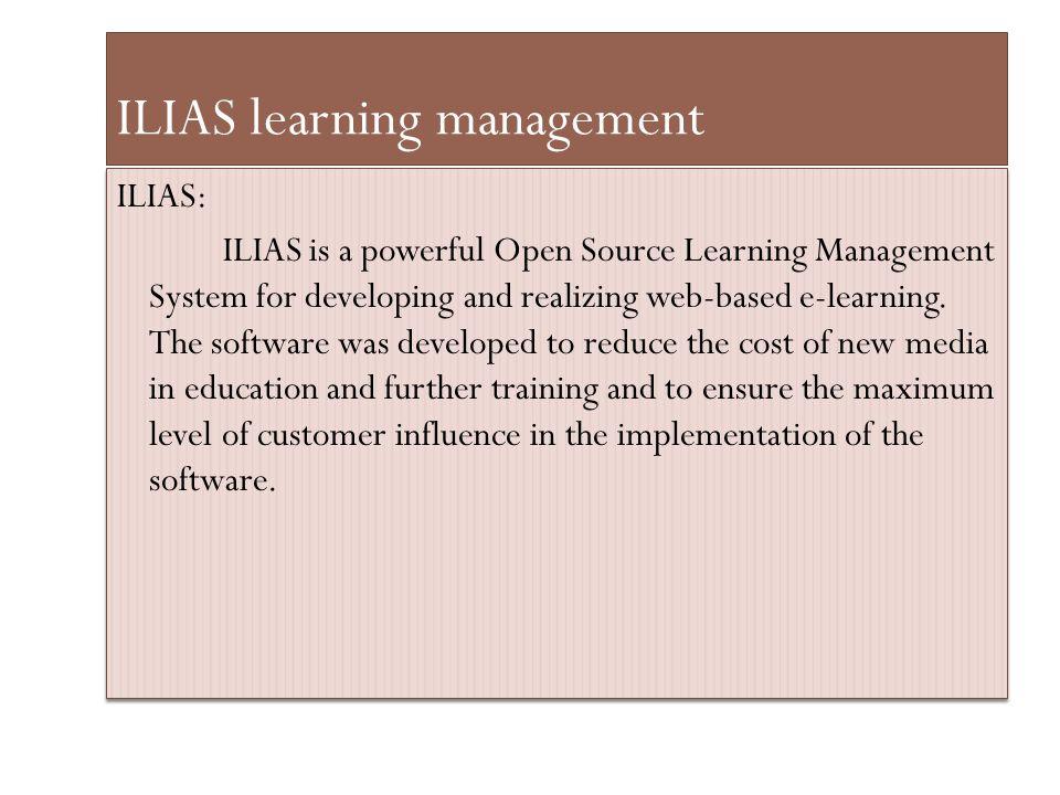 ILIAS learning management