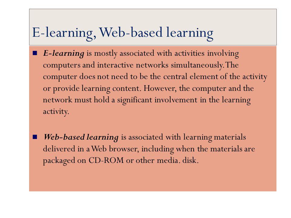 E-learning, Web-based learning