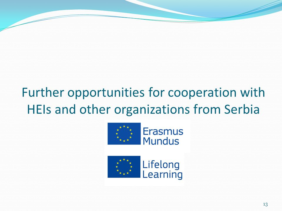 Further opportunities for cooperation with HEIs and other organizations from Serbia