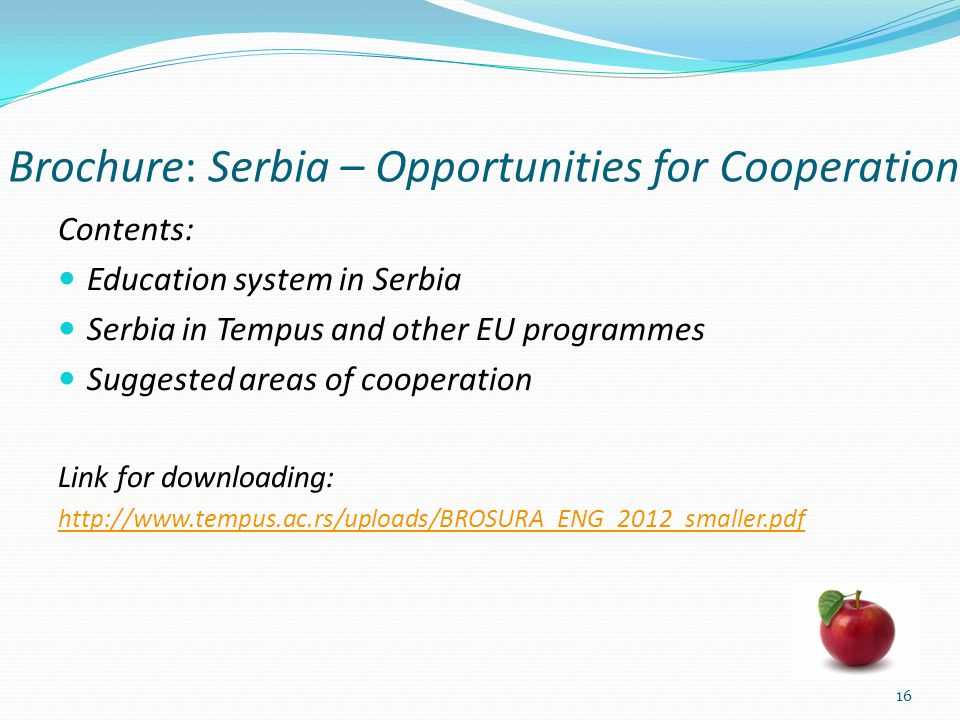 Brochure: Serbia – Opportunities for Cooperation