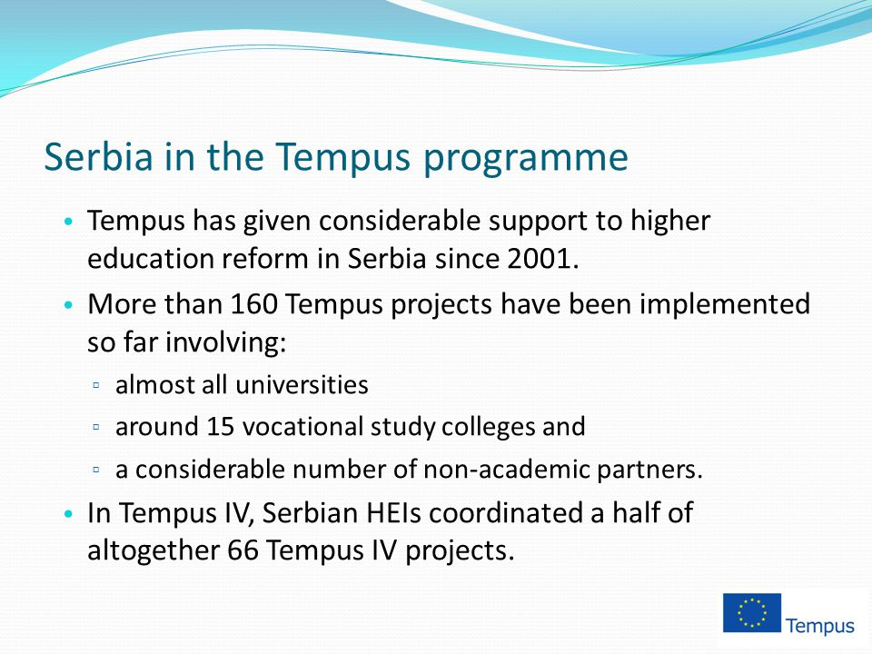 Serbia in the Tempus programme