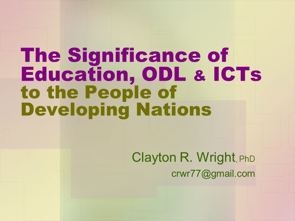 Clayton R. Wright, PhD crwr77@gmail.com