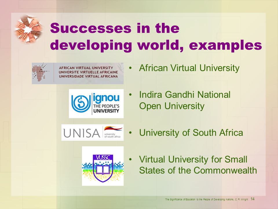 Successes in the developing world, examples