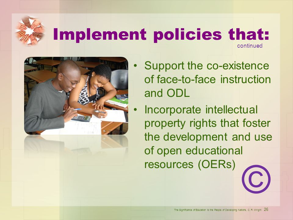 Implement policies that: