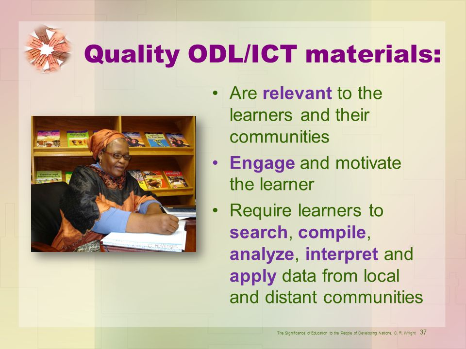 Quality ODL/ICT materials: