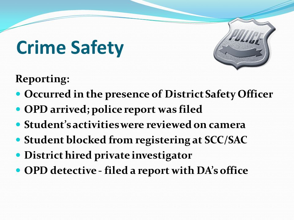 Crime Safety Reporting: