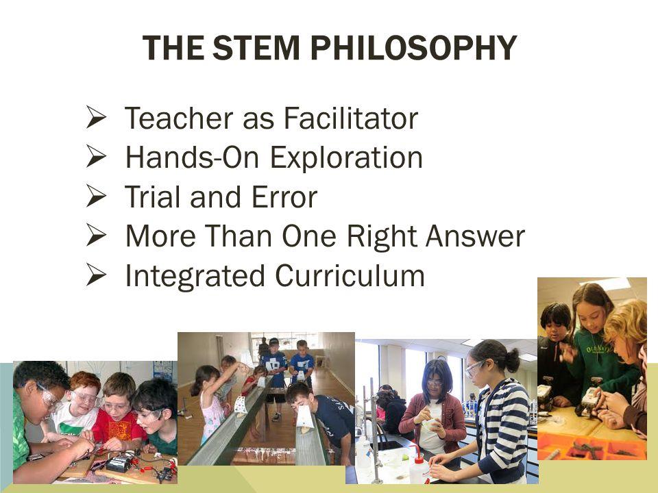 The stem philosophy Teacher as Facilitator Hands-On Exploration
