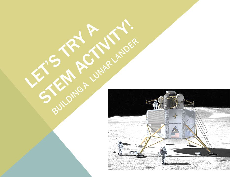 Let's try a stem activity!