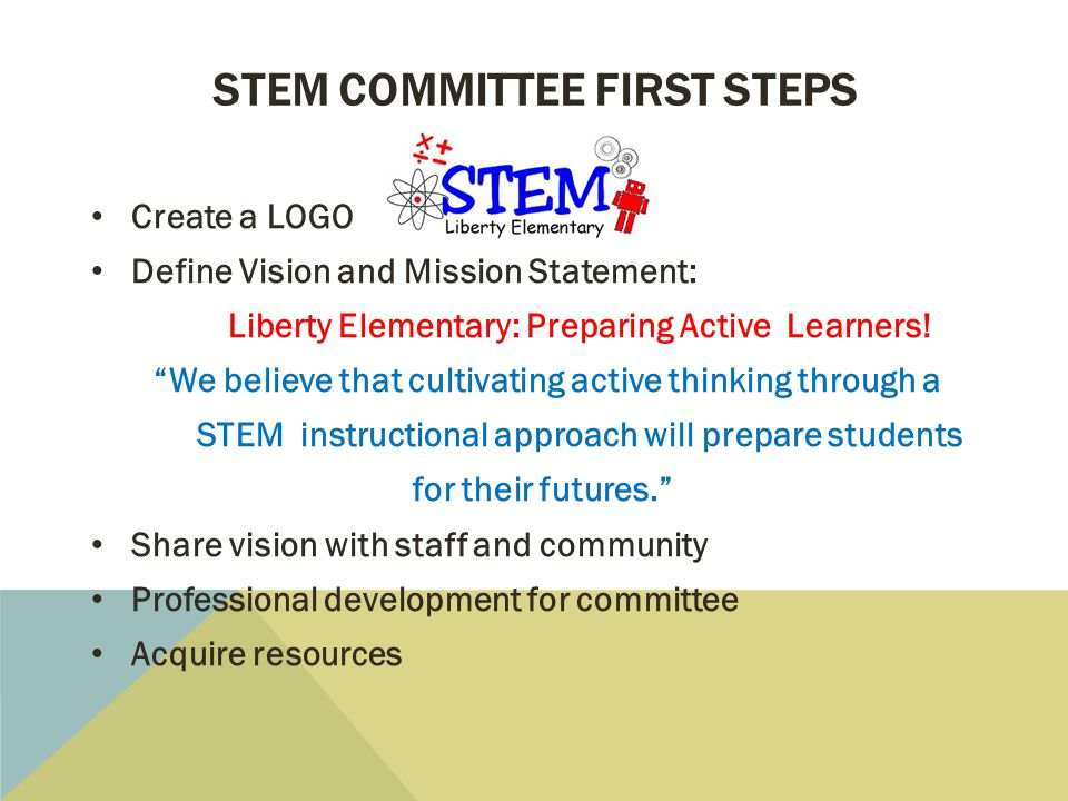STEM committee first steps