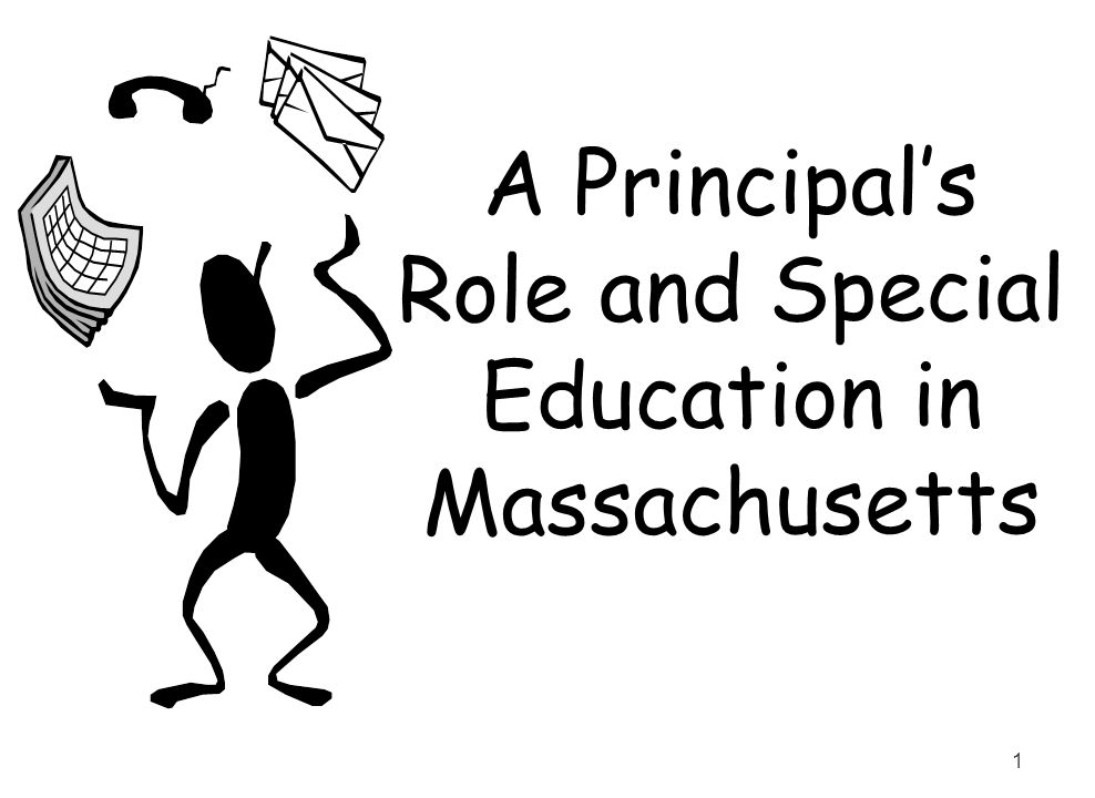 A Principal's Role and Special Education in Massachusetts