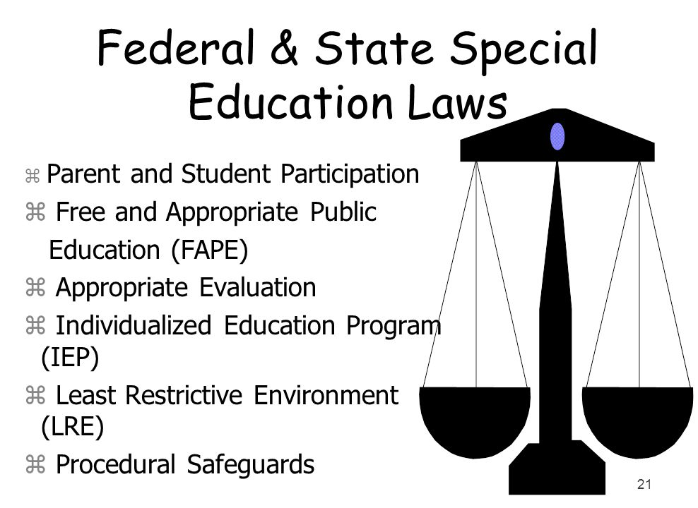 Federal & State Special Education Laws