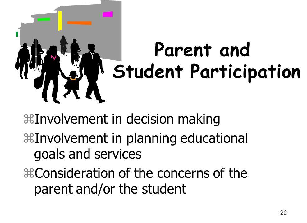 Parent and Student Participation