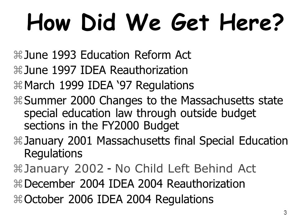 How Did We Get Here June 1993 Education Reform Act