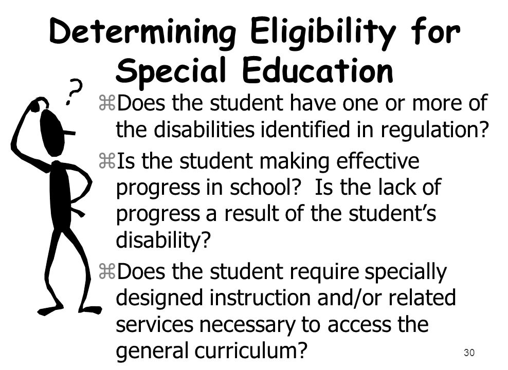 Determining Eligibility for Special Education