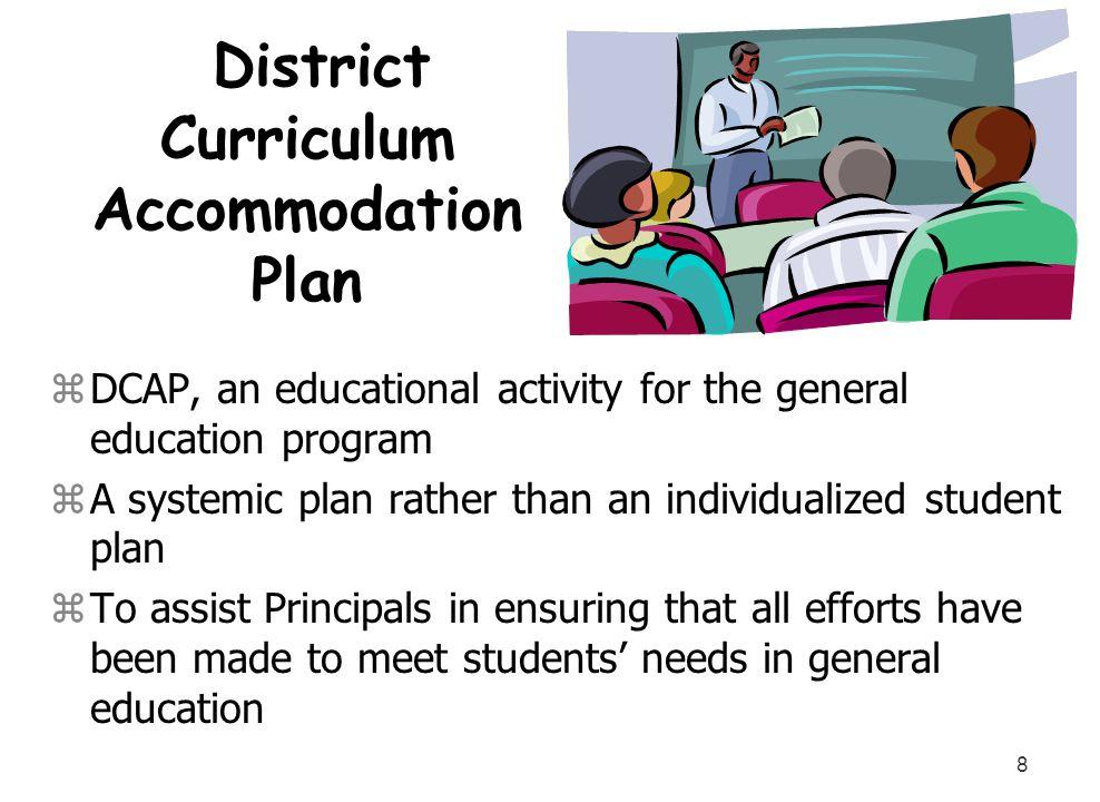 District Curriculum Accommodation Plan
