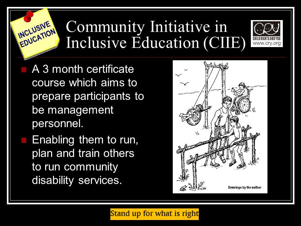 Community Initiative in Inclusive Education (CIIE)
