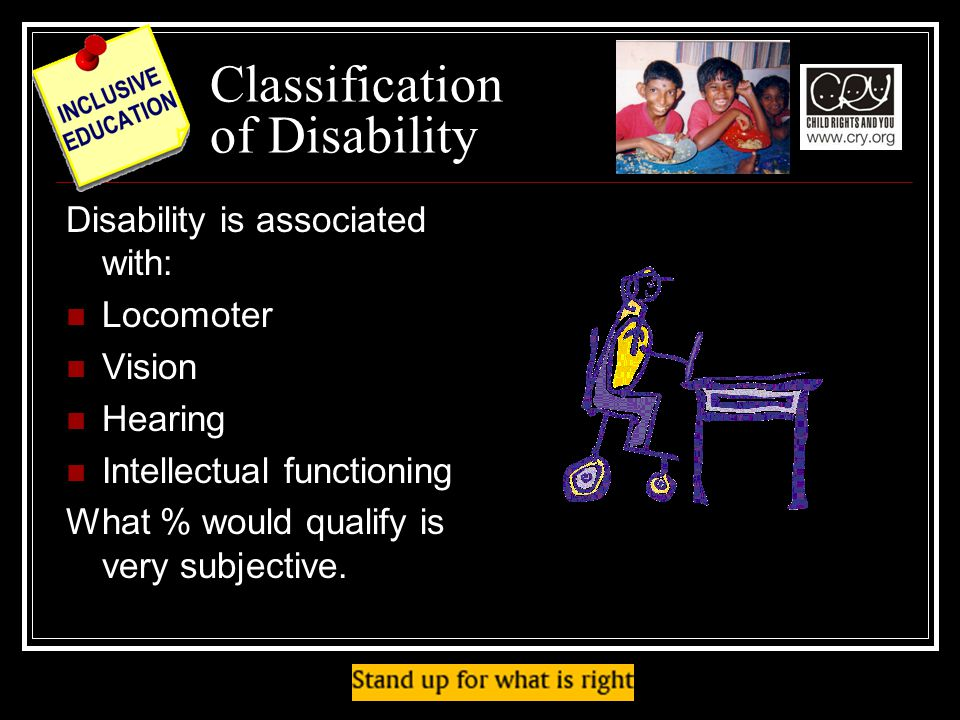 Classification of Disability