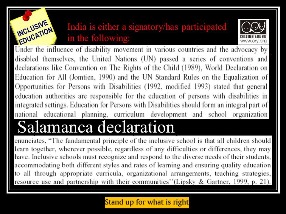 Salamanca declaration