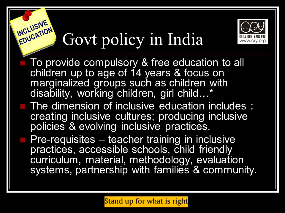 Govt policy in India