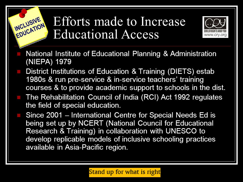 Efforts made to Increase Educational Access