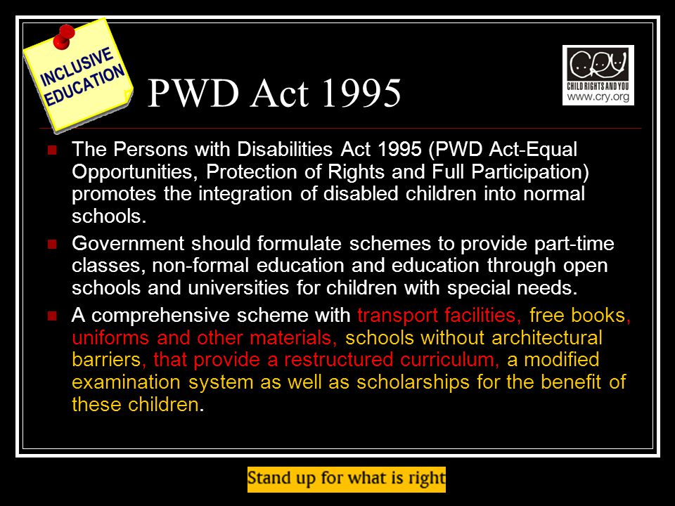 PWD Act 1995