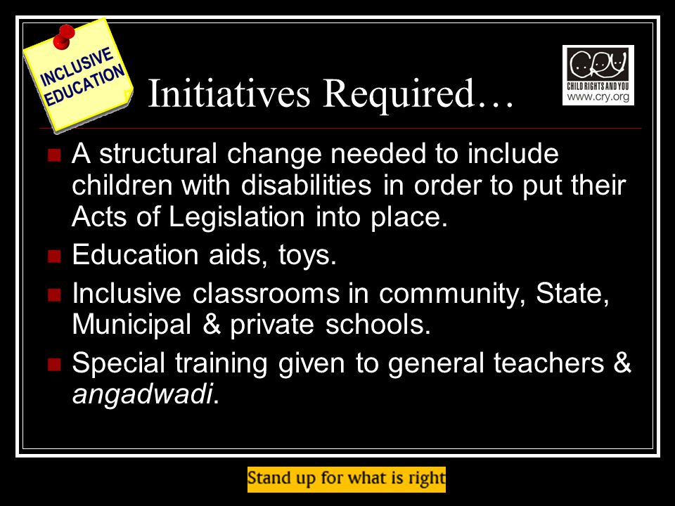 Initiatives Required…