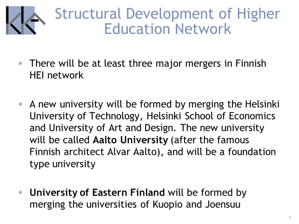 Structural Development of Higher Education Network