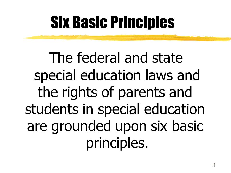 The federal and state Six Basic Principles