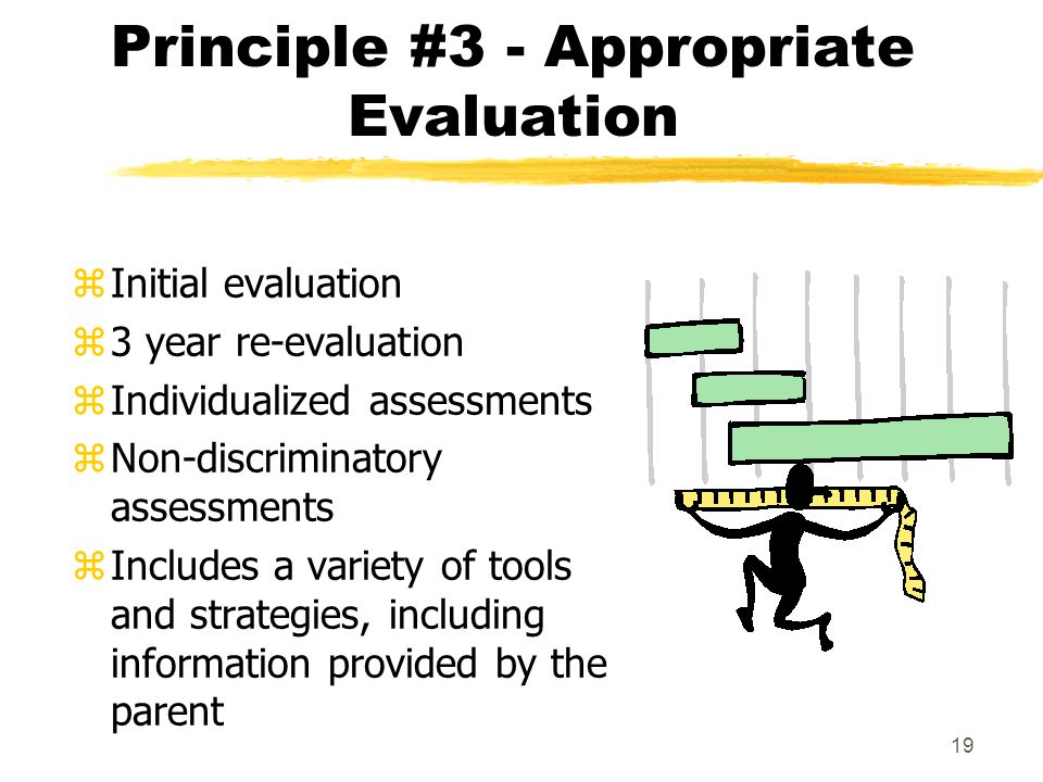 Principle #3 - Appropriate Evaluation