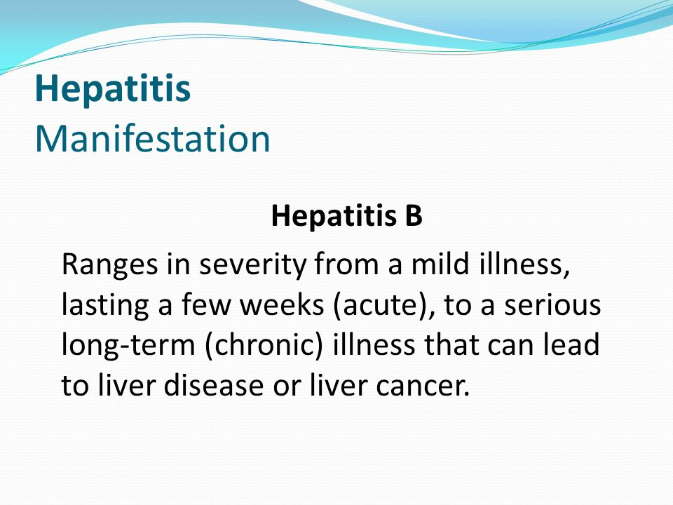 Hepatitis Manifestation