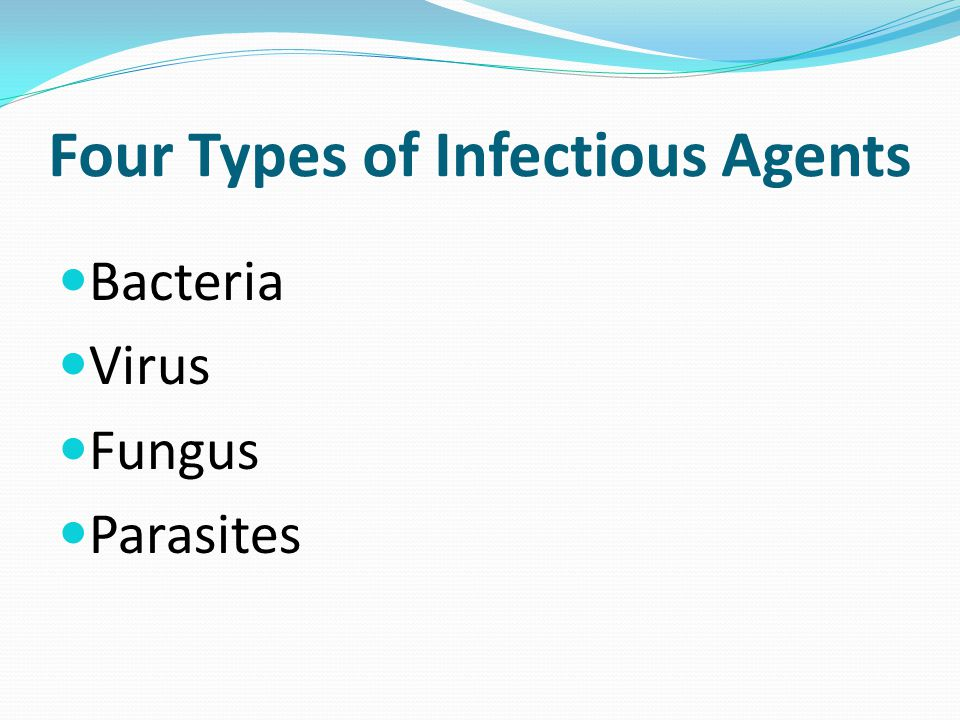 Four Types of Infectious Agents