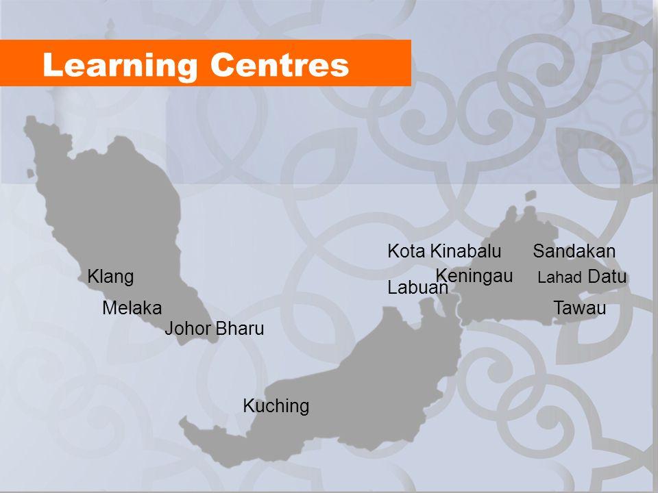 Learning Centres Kota Kinabalu Sandakan Klang Keningau Labuan Melaka