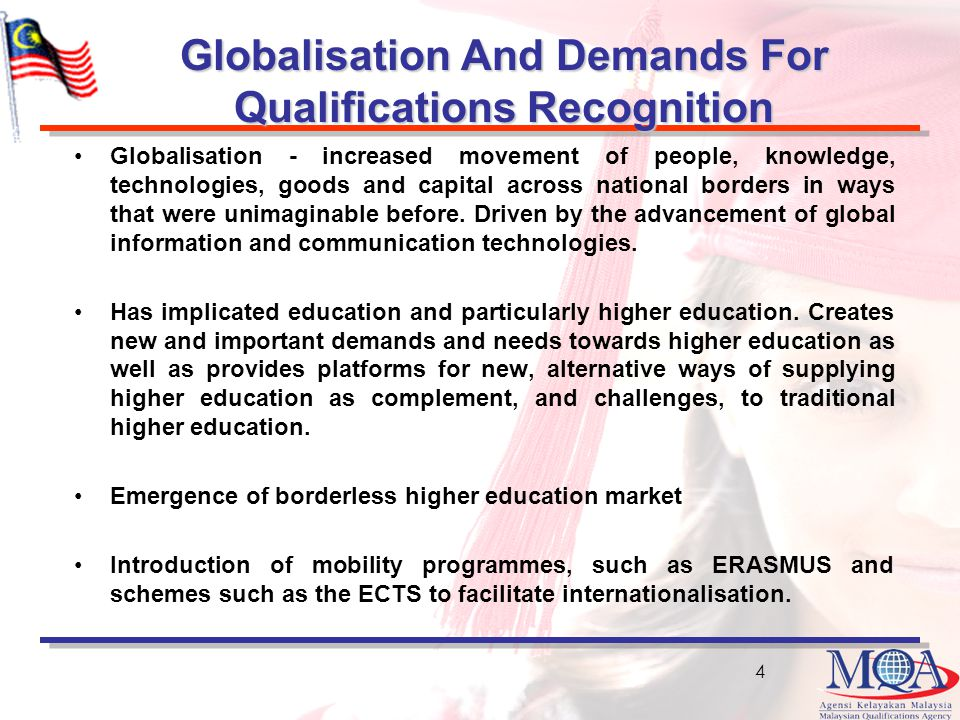 Globalisation And Demands For Qualifications Recognition