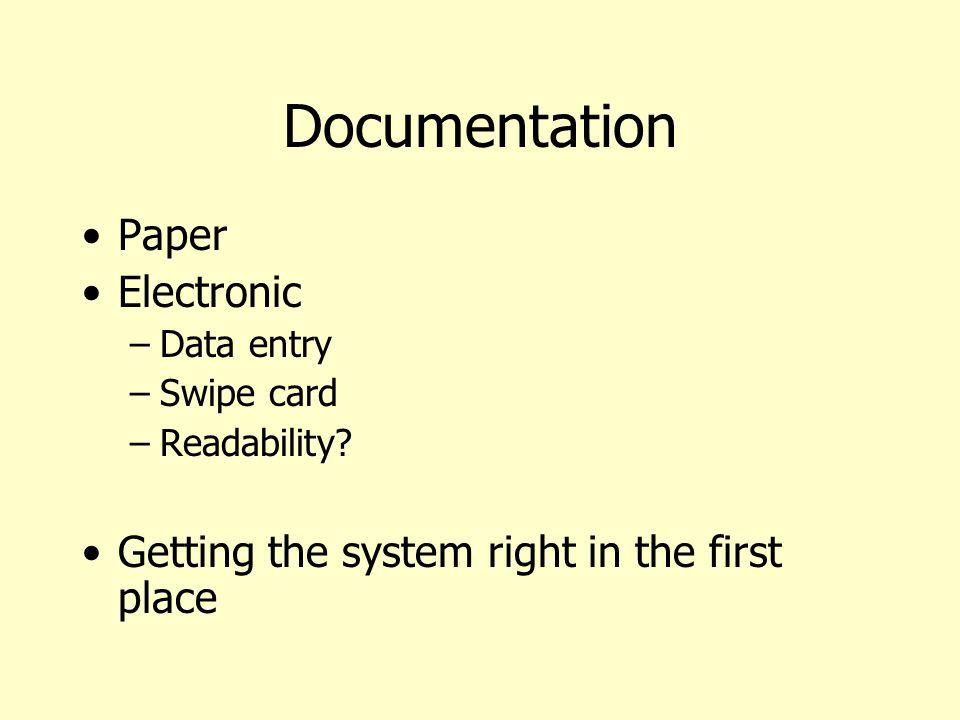 Documentation Paper Electronic