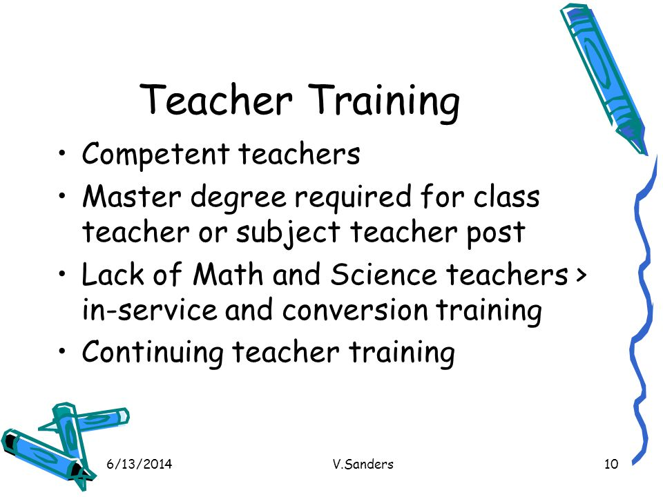 Teacher Training Competent teachers
