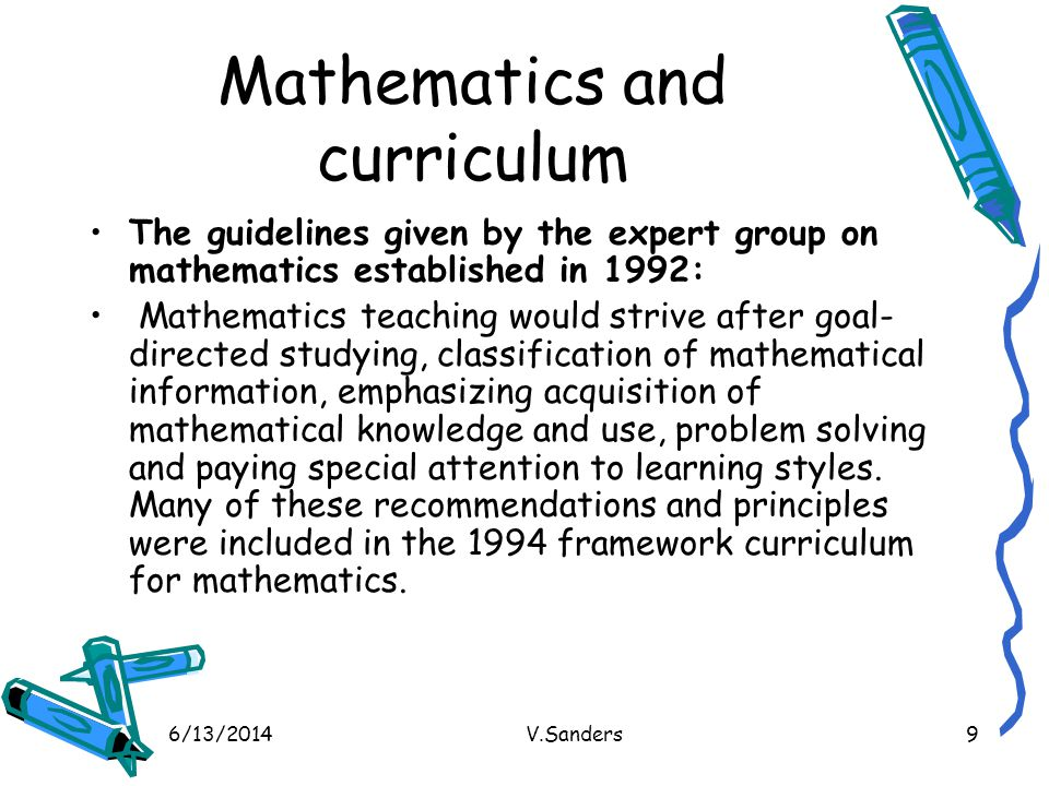 Mathematics and curriculum