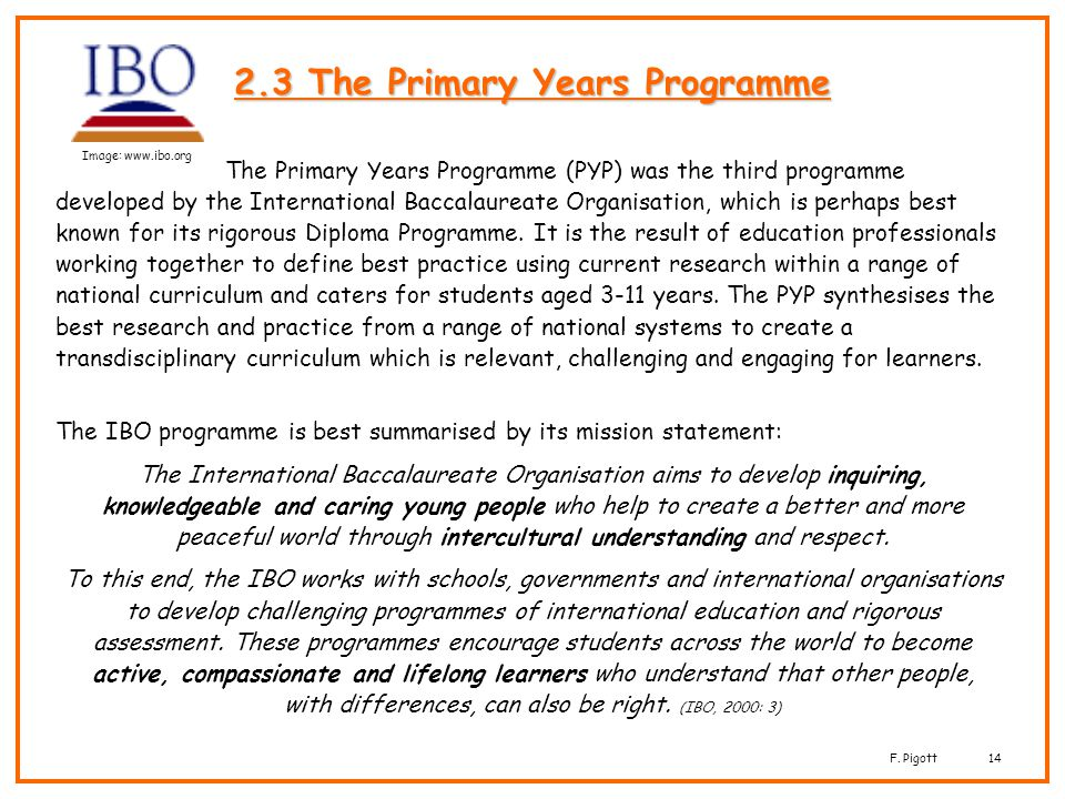 2.3 The Primary Years Programme