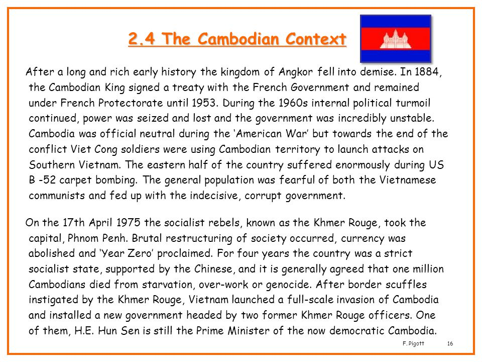 2.4 The Cambodian Context