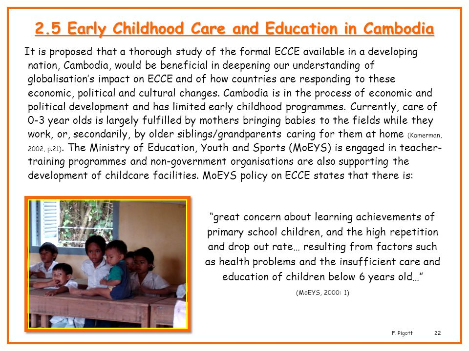 2.5 Early Childhood Care and Education in Cambodia